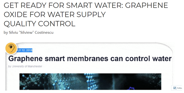 graphene oxide in the water supply Live Call: Graphene and Graphene Oxide Basics